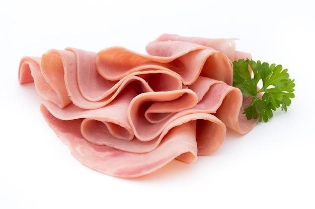 Ham  on white isolated