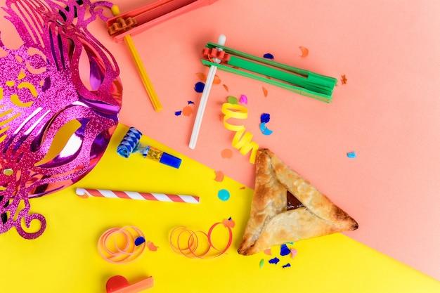 カーニバルマスク、パーティー衣装、hamantascを使ったプリム