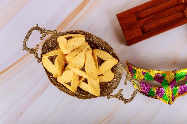 Hamantaschen печенье hamans уши, маска праздник purim и шумоглушитель