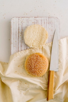 Panini hamburger sul tavolo