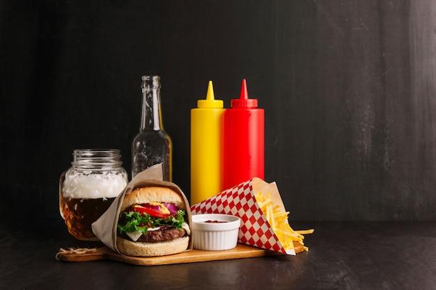 Украшение гамбургера
