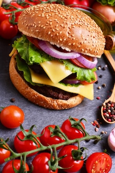 Hamburger from the best food