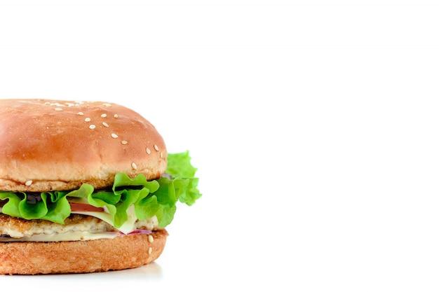 Hamburger on a white background isolate