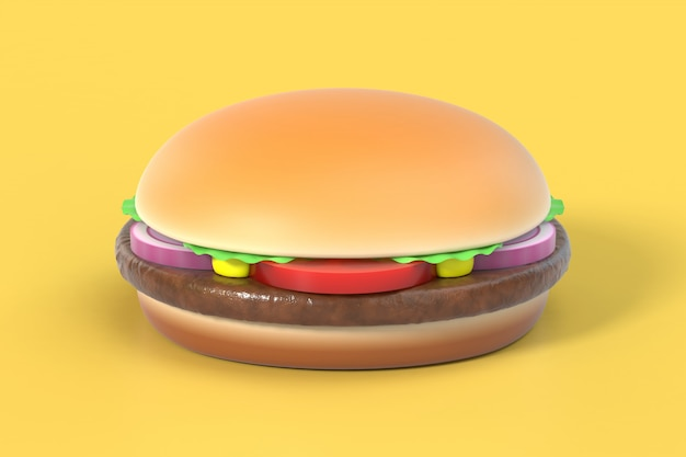 Hamburger on yellow