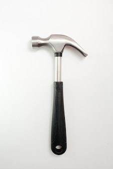 Hammer on a white table
