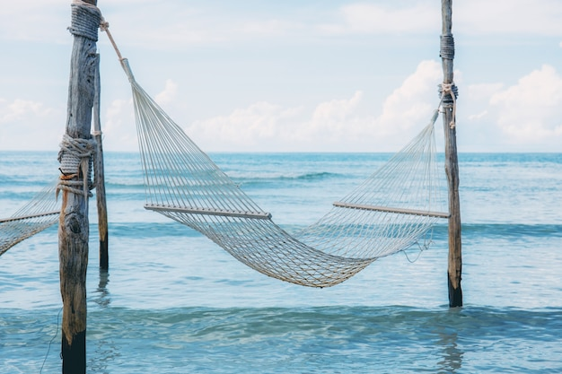 Hammock on beach of thailand.