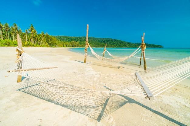 Hammock  with beautiful nature tropical beach