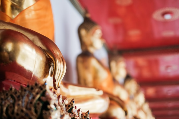 Hand of buddha in temple