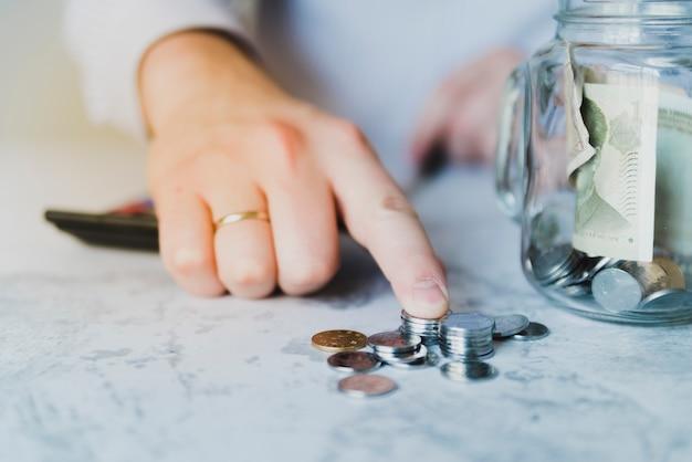 Hand counting savings