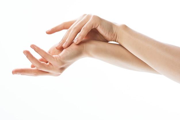 ハンドクリームきれいな肌のクローズアップ衛生化粧品