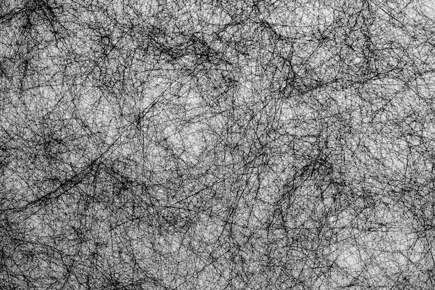 白の背景に黒のファイバーラインの抽象的な背景を手描き