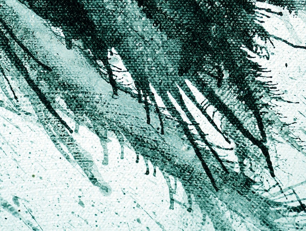 Hand draw brushstroke oil painting green color natural abstract  background.