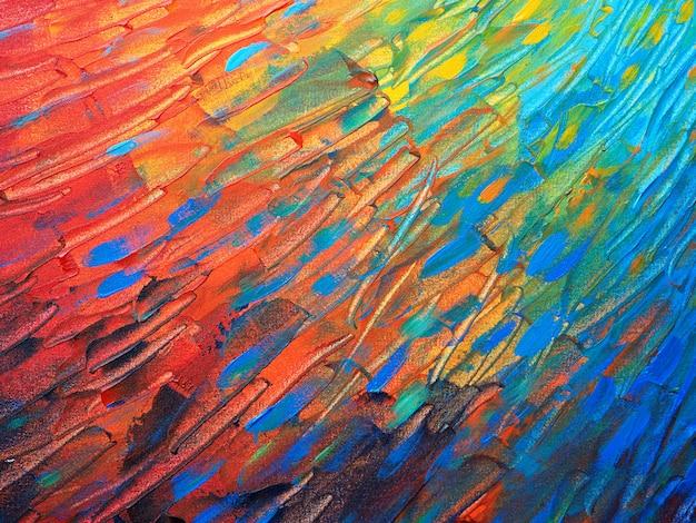 Рука рисовать красочные масляной краской абстрактный фон и текстура. Premium Фотографии