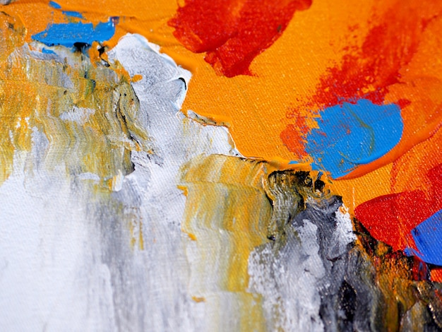 Hand draw colorful oil paint abstract background and texture.