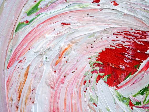 Вручите притяжке красочную картину маслом multi цвета абстрактную предпосылку и текстуру.