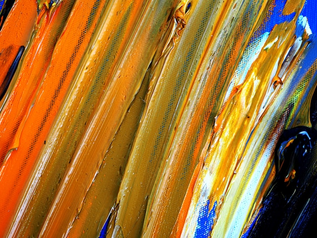Hand draw colorful oil painting multi colors abstract background and texture.