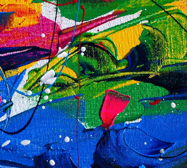 Hand draw colorful painting abstract background with texture.
