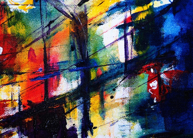 Hand draw colorful watercolor abstract background and textured