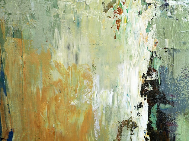 Hand draw oil painting beige color brush stroke texture abstract background on canvas.