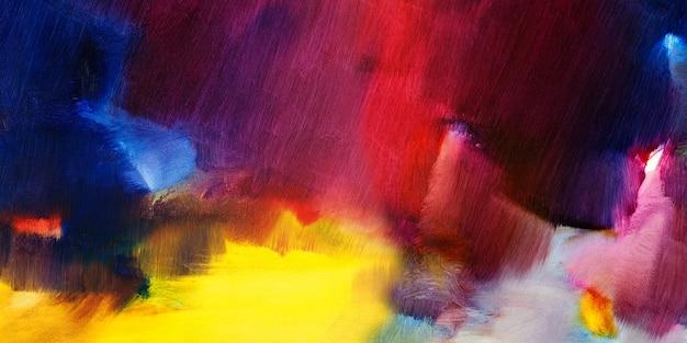 テクスチャードとキャンバスの抽象的な背景に油絵を手描き
