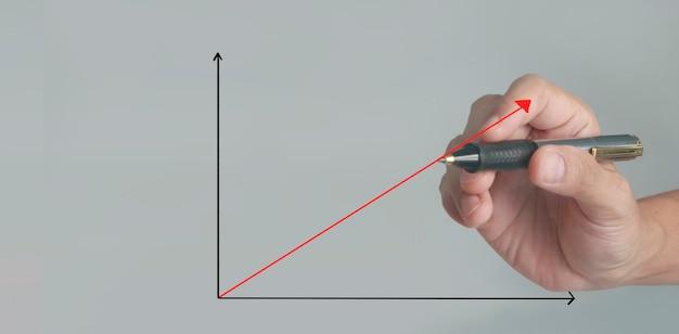손 그리기 차트, 그래프 주식 성장