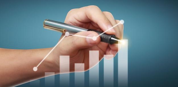Рука рисунок диаграммы, график запаса роста