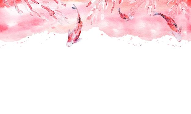 水彩画の背景とシームレスな手描きの芸術