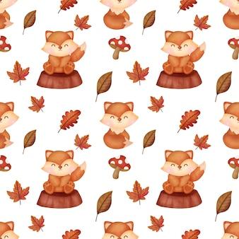 Hand drawn autumn pumpkins seamless patterns