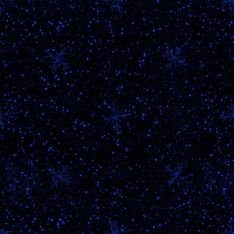 Ручной обращается синий снежинки рождество бесшовные модели. тонкие хлопья летающего снега на черном фоне. очаровательная снежная накладка, нарисованная от руки мелом. очаровательное украшение курортного сезона.