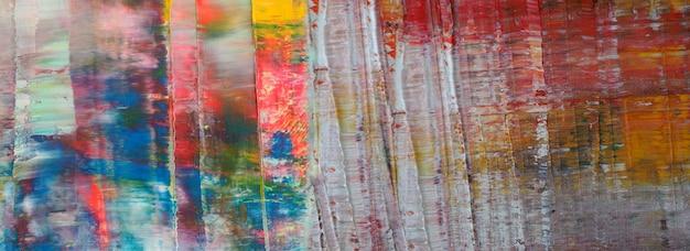 Ручной обращается красочная живопись абстрактное искусство панорама фон цвета текстуры дизайн иллюстрация