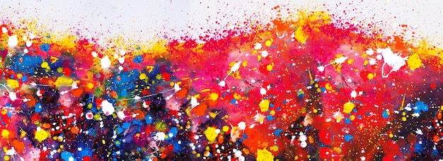 Ручной обращается красочная живопись абстрактное искусство панорама фон цвета текстуры на холсте