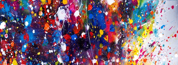 Hand drawn colorful painting abstract background