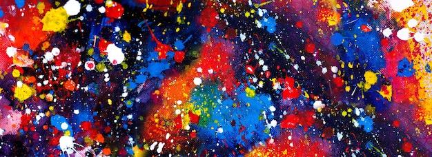 Ручной обращается красочная акварель абстрактное искусство панорама фон цвета текстуры