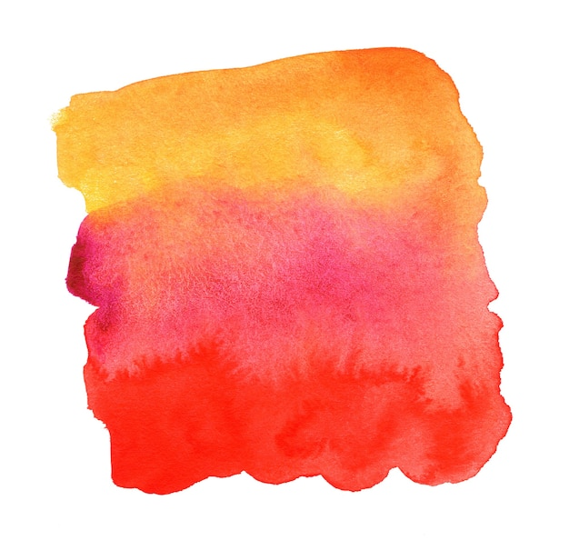 Hand drawn colorful watercolor spot abstract watercolor background