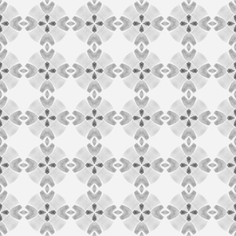 Hand drawn green mosaic seamless border. black and white attractive boho chic summer design. textile ready awesome print, swimwear fabric, wallpaper, wrapping. mosaic seamless pattern.