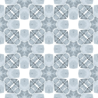 Hand drawn green mosaic seamless border. black and white elegant boho chic summer design. textile ready lovely print, swimwear fabric, wallpaper, wrapping. mosaic seamless pattern.