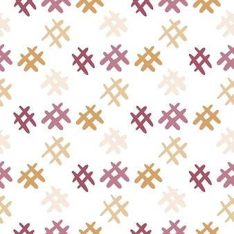 손으로 그린된 해시 태그 아이콘 완벽 한 패턴입니다. 흰색 배경에 고립. 벡터 일러스트 레이 션