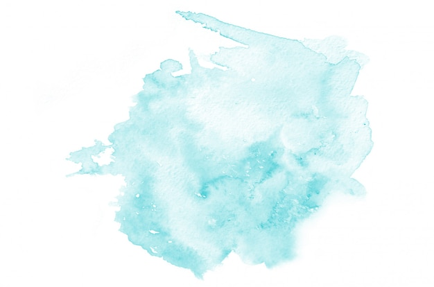 Hand drawn light blue watercolor shape for your design