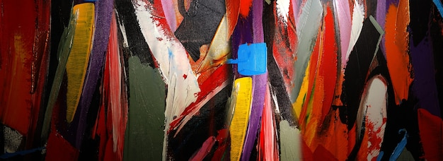 Ручной обращается картина абстрактное искусство панорама фон цвета текстуры дизайн иллюстрация