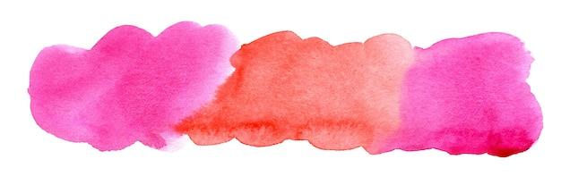 手描きのピンクと赤の水彩スポット抽象的な水彩背景