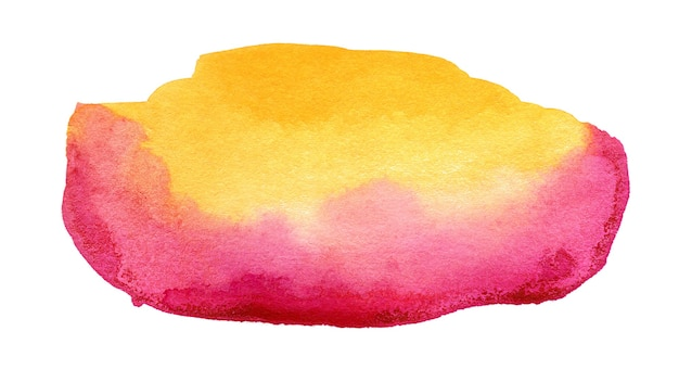 Hand drawn pink and yellow watercolor spot abstract watercolor background