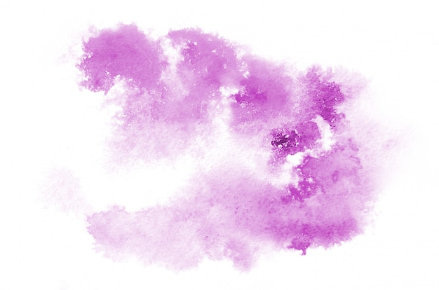 Hand drawn purple watercolor shape