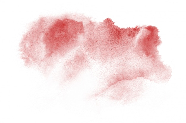 Hand drawn red watercolor shape