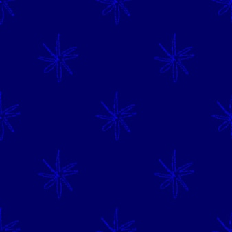 Hand drawn snowflakes christmas seamless pattern. subtle flying snow flakes on chalk snowflakes background. admirable chalk handdrawn snow overlay. magnetic holiday season decoration.
