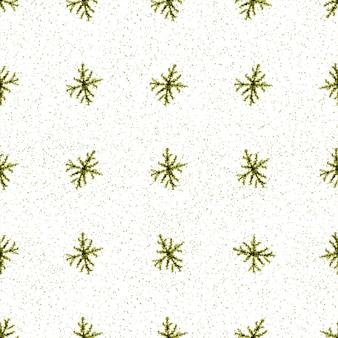 Hand drawn snowflakes christmas seamless pattern. subtle flying snow flakes on chalk snowflakes background. amazing chalk handdrawn snow overlay. fresh holiday season decoration.