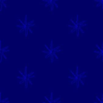Ручной обращается снежинки рождество бесшовные модели. тонкие летающие хлопья снега на фоне снежинок мела. замечательный снежный покров, нарисованный от руки мелом. магнитное украшение праздничного сезона.