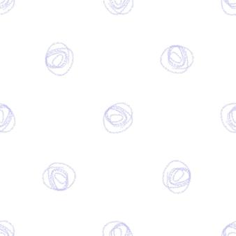 Ручной обращается снежинки рождество бесшовные модели. тонкие летающие хлопья снега на фоне снежинок мела. очаровательный снег, нарисованный от руки мелом. живое украшение курортного сезона.