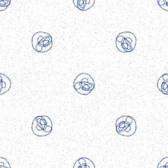 Ручной обращается снежинки рождество бесшовные модели. тонкие летающие хлопья снега на фоне снежинок мела. очаровательный снег, нарисованный от руки мелом. необычное украшение курортного сезона.