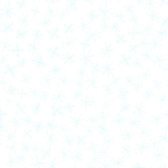 Ручной обращается снежинки рождество бесшовные модели. тонкие летающие хлопья снега на фоне снежинок мела. изумительный снег, нарисованный от руки мелом. причудливое украшение курортного сезона.