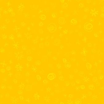 Ручной обращается снежинки рождество бесшовные модели. тонкие летающие хлопья снега на фоне снежинок мела. изумительный снег, нарисованный от руки мелом. яркое украшение праздничного сезона.